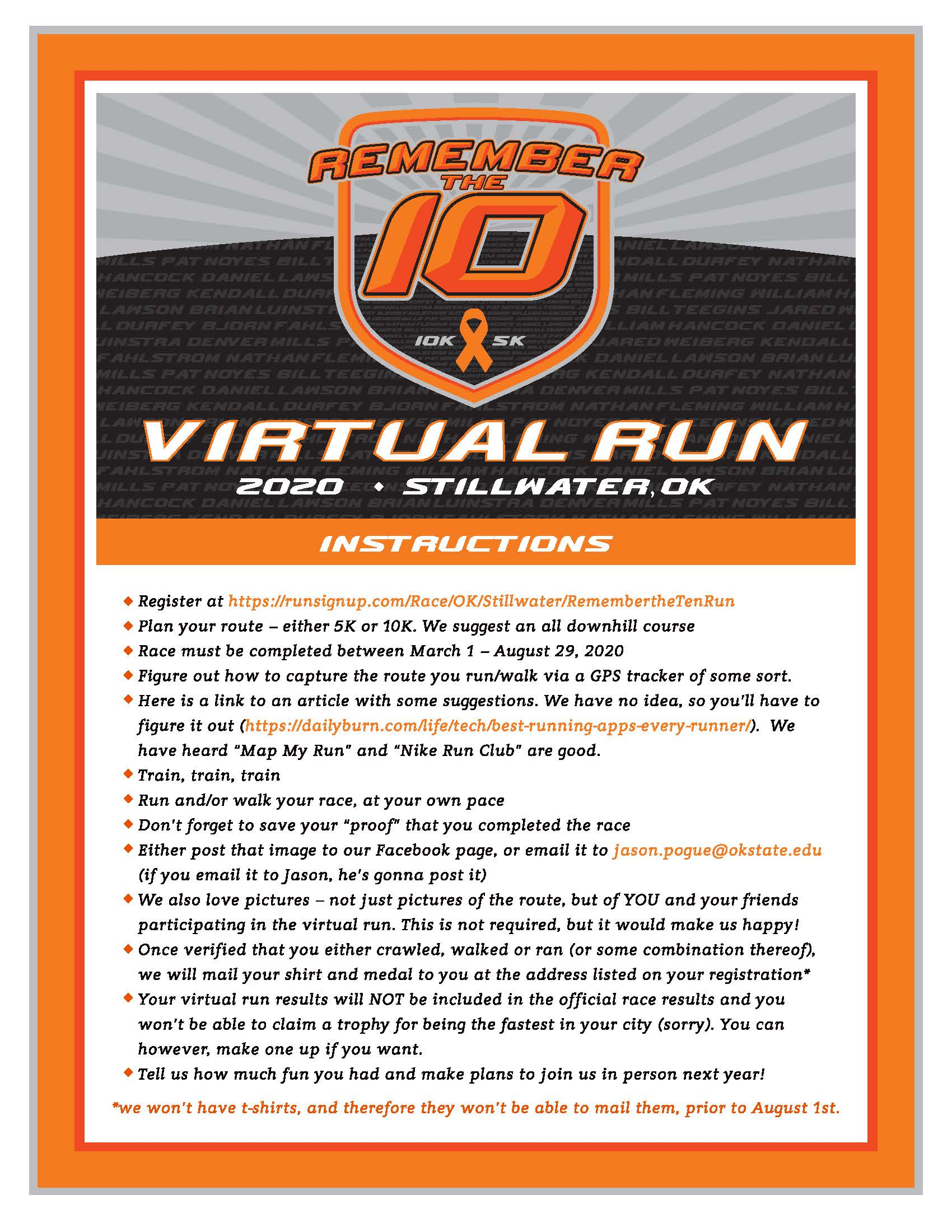 Virtual Run Flyer - Updated March 17th