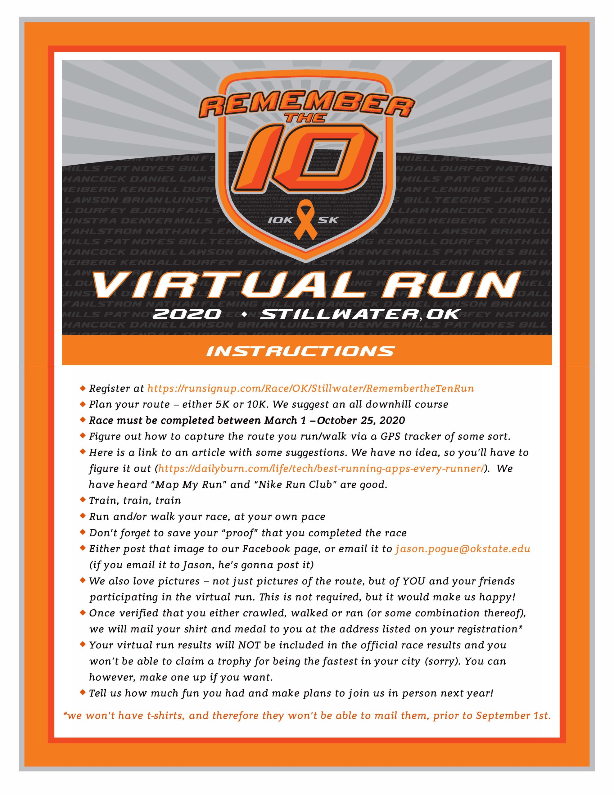 Virtual Run Flyer - Updated July 24